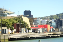 View across the marina to the Arcade